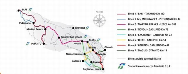 P ppito traporti aerei treni autobus privati stazione miggiano montesano specchia it - Specchia lecce mappa ...